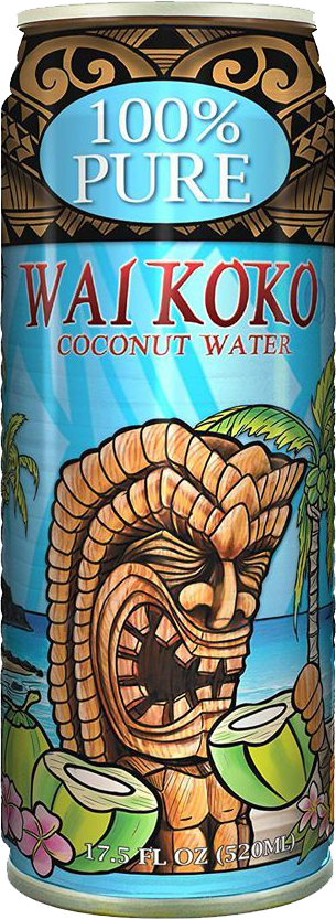 Pineapple in Paradise Wai Coco Can Coconut water in recyclable can