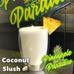 Coconut slush in a pineapple glass