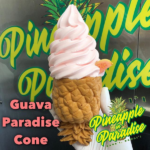 guava whip in a paradise cone