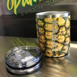 Cylindrical Double Walled vacuum insulated pineapple tumbler